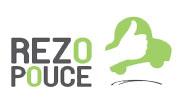 """Logo du servie """"rezo pouce"""" qui permet de faire du stop sécurisé et organisé pour venir au festival musique & vins du Festapic"""