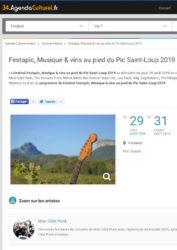 Visuel de l'article sur le festival du festapic parue sur le site Agenda Culturel 34