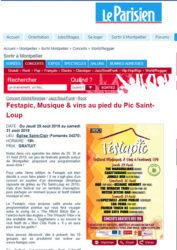 Visuel de l'article sur le festival du festapic parue sur le site www.leparisien.fr dans la rubrique sortir à Montpellier